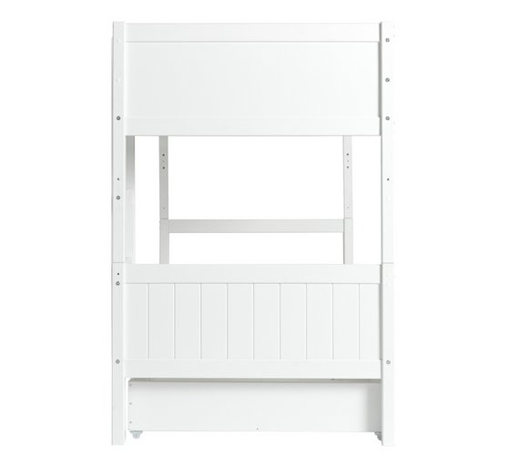 bunk bed frame buy home detachable single bunk bed frame with storage white at