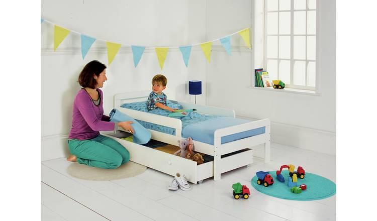 Buy Argos Home Ellis White Toddler Bed Frame with Storage ...