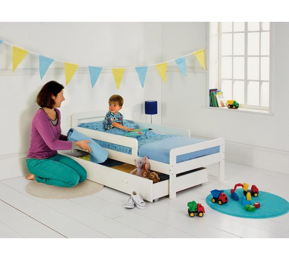 HOME Ellis Storage Toddler Bed Frame