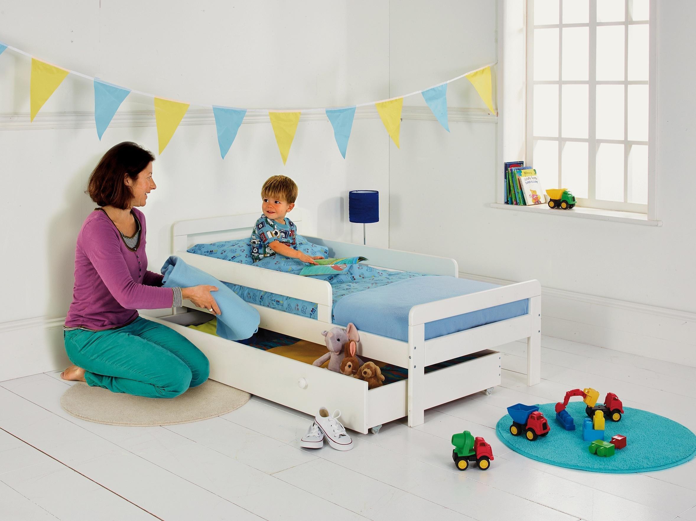 HOME Ellis Storage Toddler Bed Frame   White