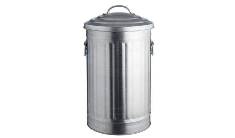 Habitat Alto 32 Litre Kitchen Bin - Galvanised Steel