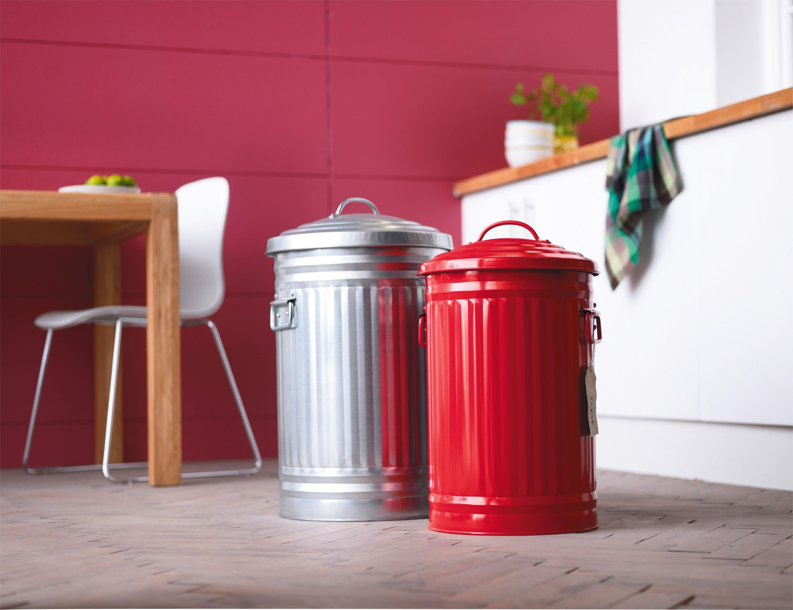 Image of Habitat - Alto 32L Red Kitchen Bin