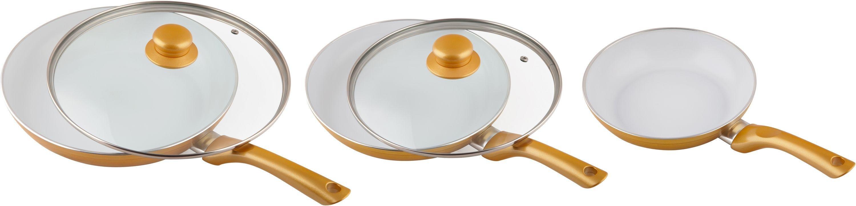 Image of Ceramicore 3 Pc Ceramic Non-Stick Aluminium Frying Pan Set