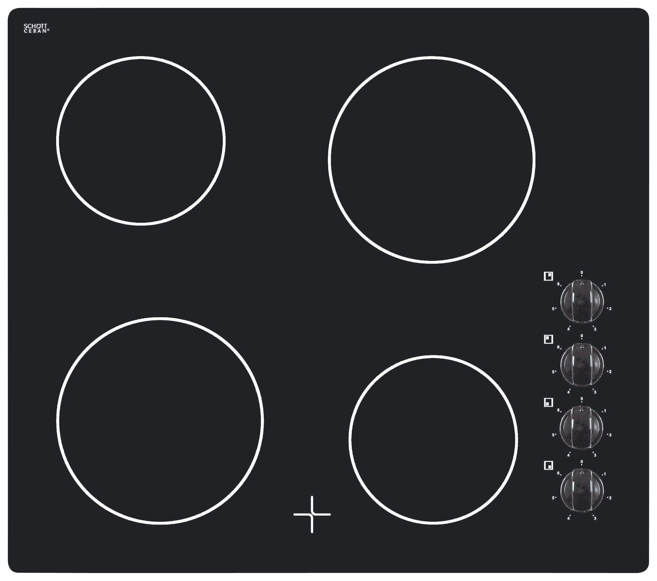 Bush A60CK 60cm Ceramic Hob- Black/Store Pick Up