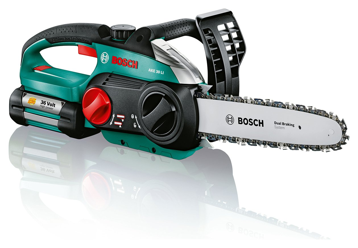 Image of Bosch - AKE 30 LI - Cordless Lithium-Ion Chainsaw - 36V/26Ah
