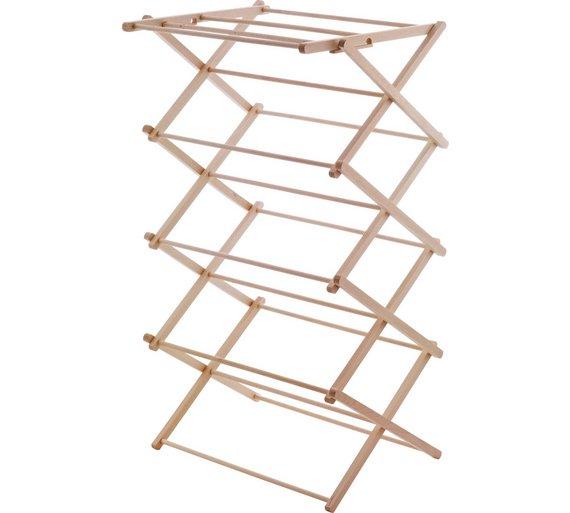 buy habitat misto wooden indoor clothes airer at. Black Bedroom Furniture Sets. Home Design Ideas