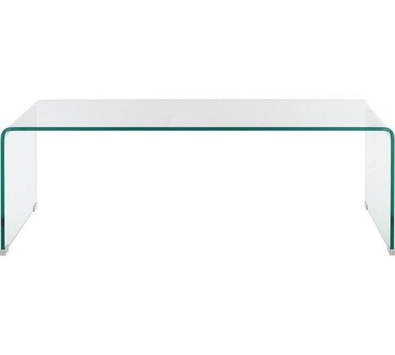 buy habitat gala glass coffee table at argos