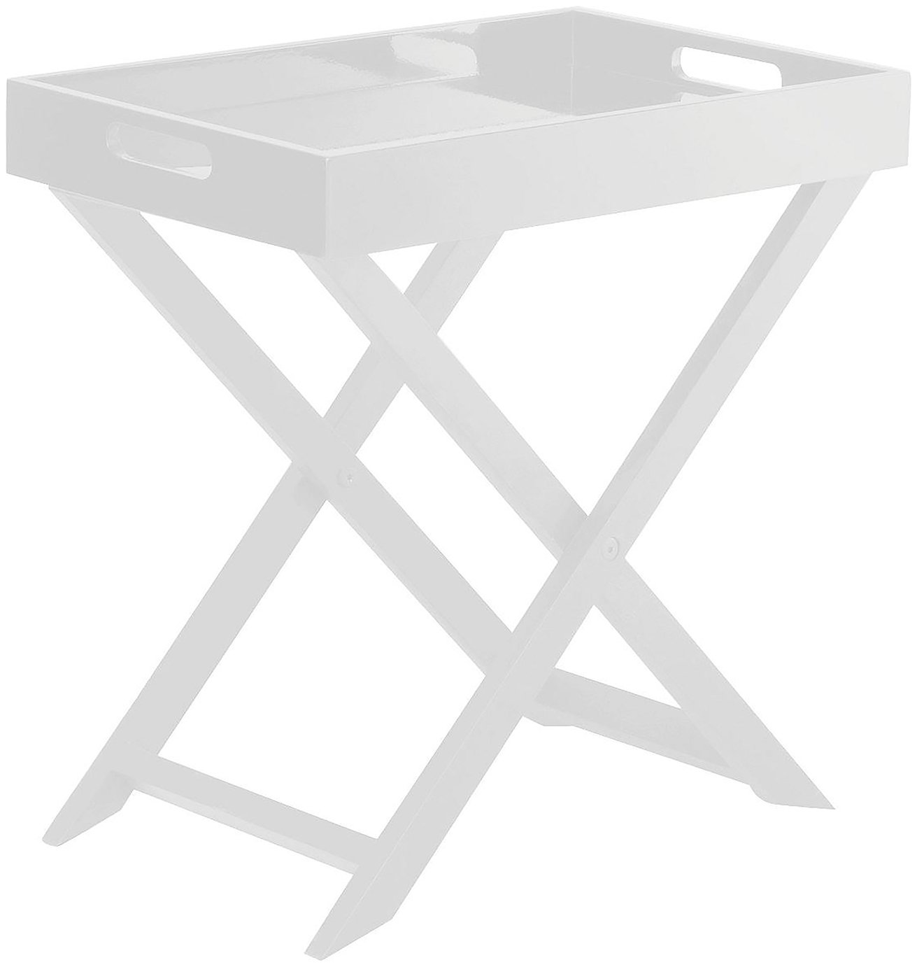 Habitat Oken Square Occasional Table - White