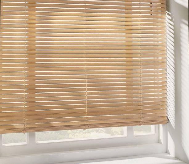 HOME Wooden Venetian Blind - 4ft - Natural