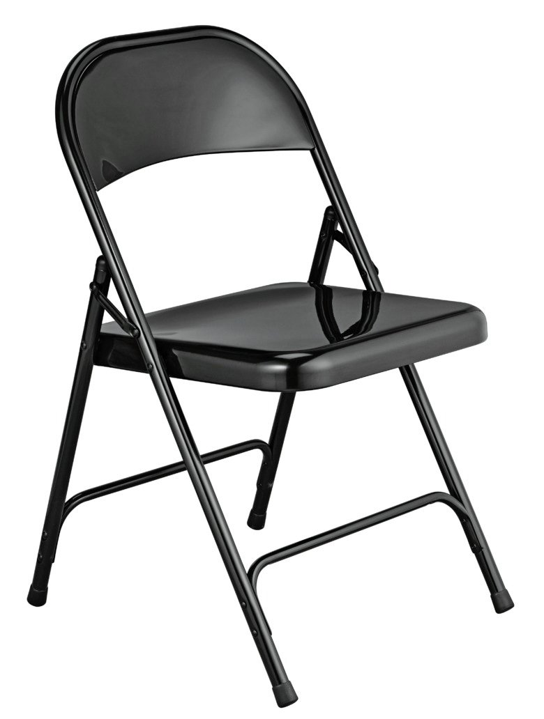 Habitat Macadam Metal Folding Chair - Black