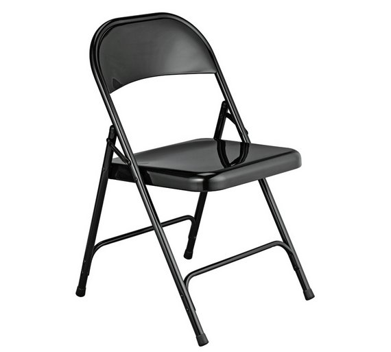 buy habitat macadam metal folding chair black dining chairs argos