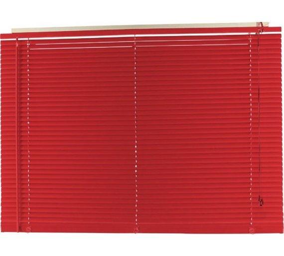 Argos Home PVC Venetian Blind - 3ft - Poppy Red