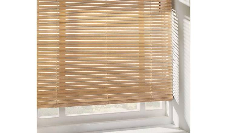 Argos Home 25mm Wooden Venetian Blind - Natural
