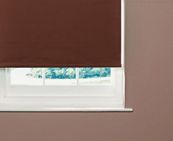 home thermal blackout roller blind 2ft chocolate