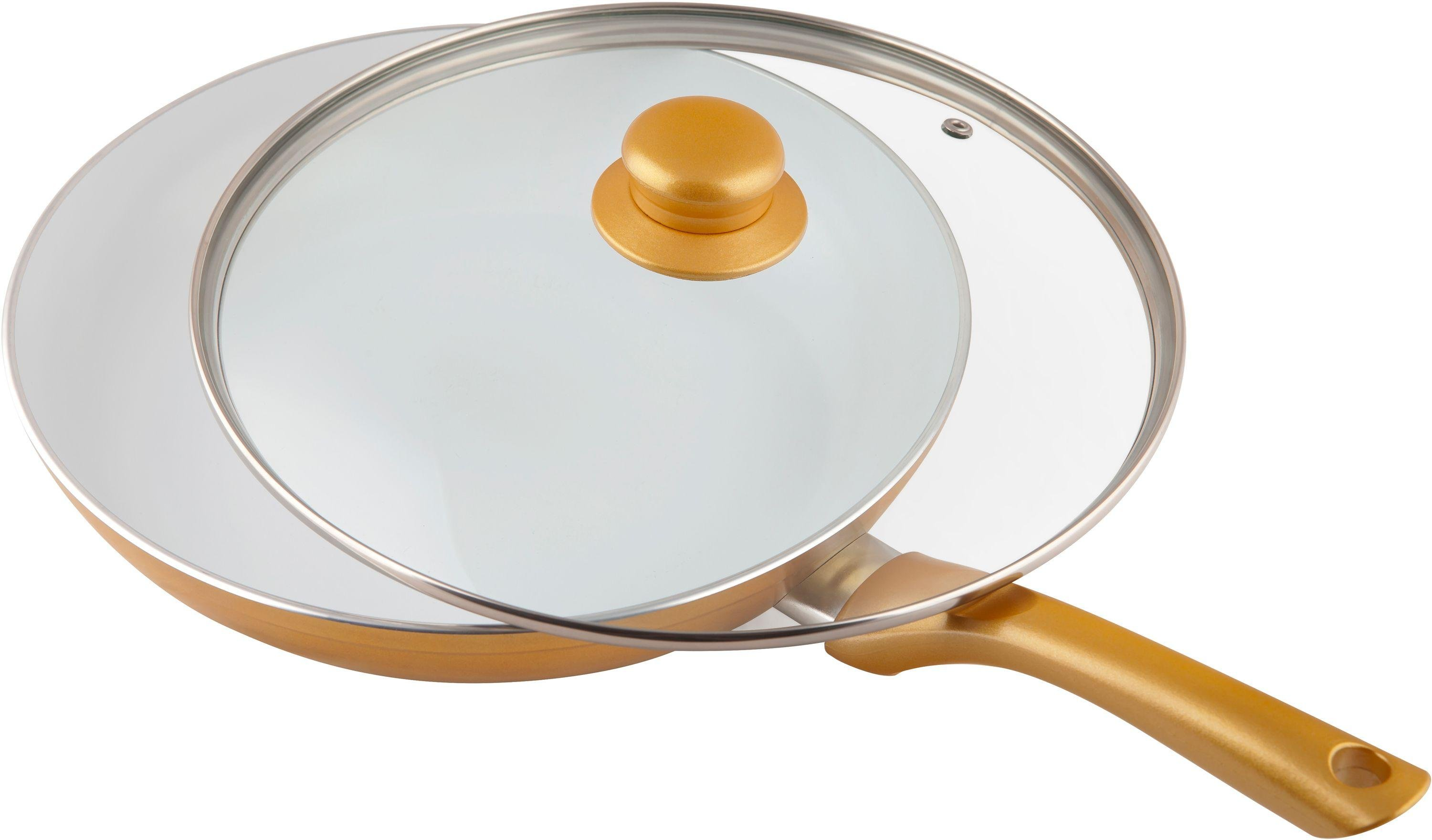 Ceramicore 24cm Gold Frying Pan With Lid For Only 163 29 99