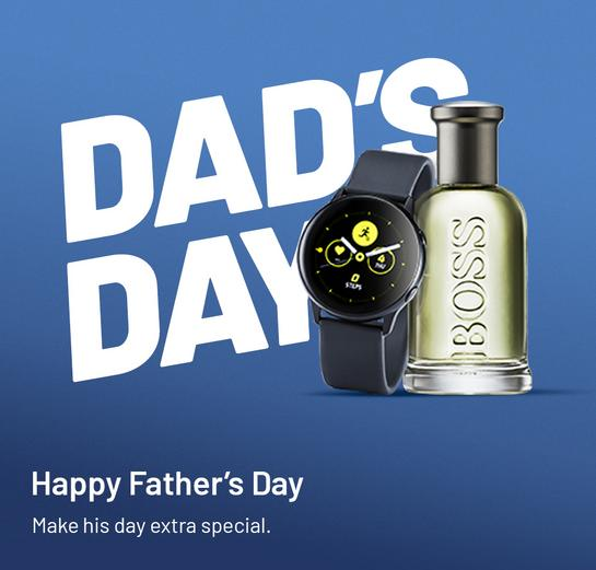 Happy Father's Day. Make his day extra special.