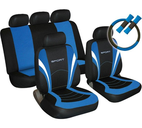 Buy Sport Seat Cover Steering Wheel And Seat Belt Pads