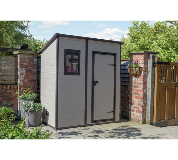Buy Keter Manor Plastic Beige Brown Garden Shed X At