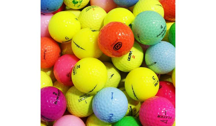 Assorted Colours Lake Golf Balls in a Box - Pack of 100