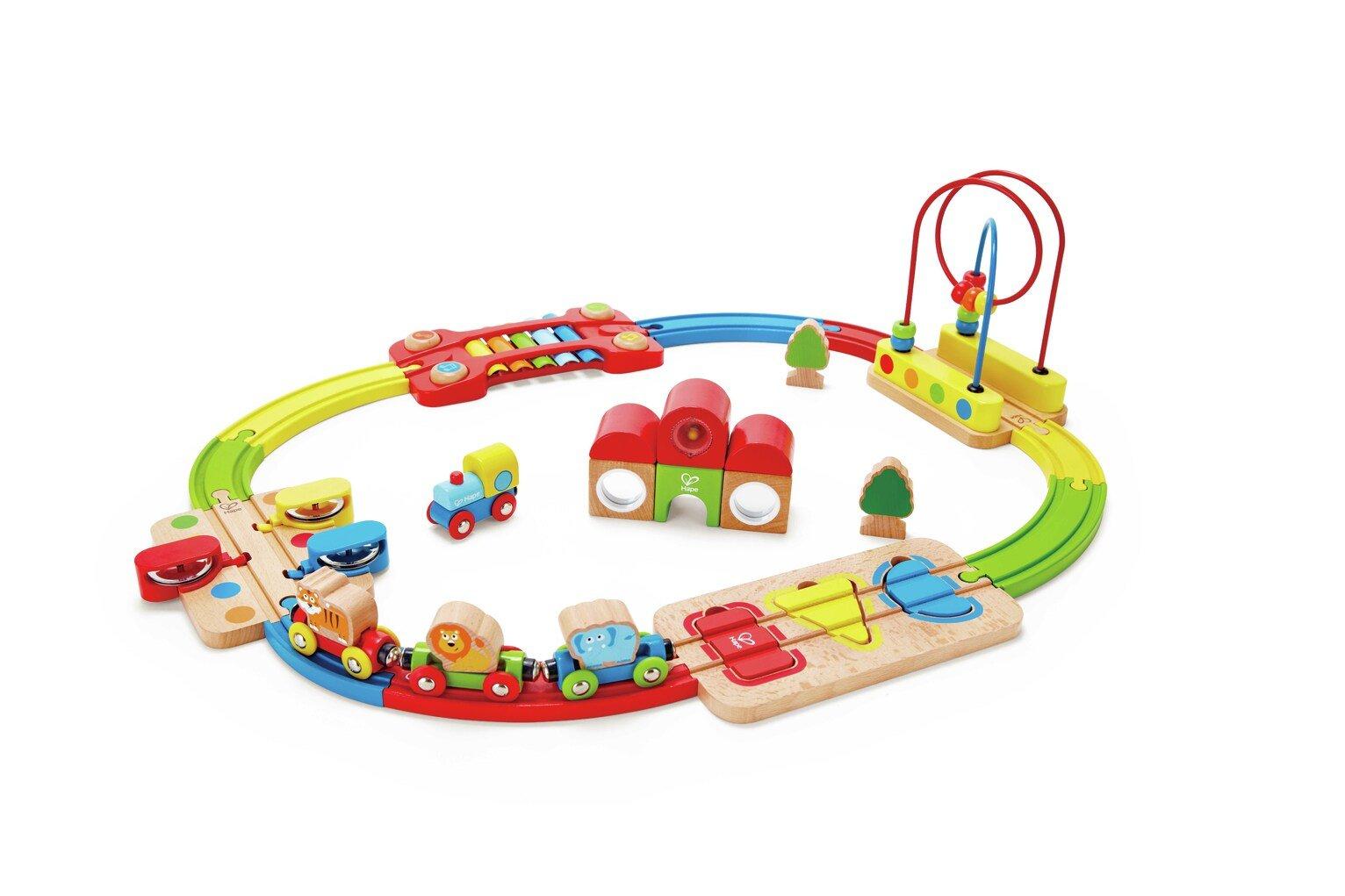 Hape Rainbow Puzzle Railway Set