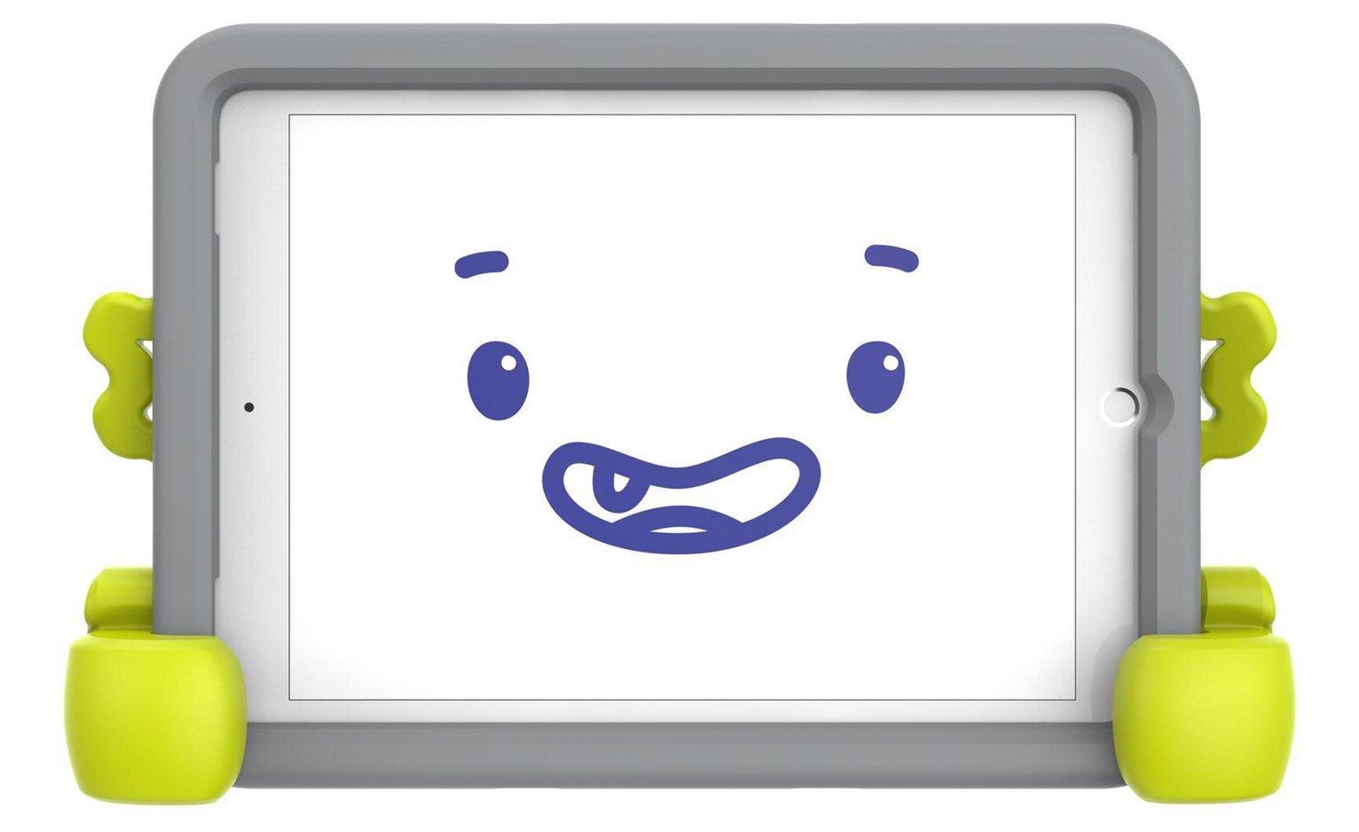Speck Case-E 9.7 Inch iPad Kids Tablet Case - Grey/Green