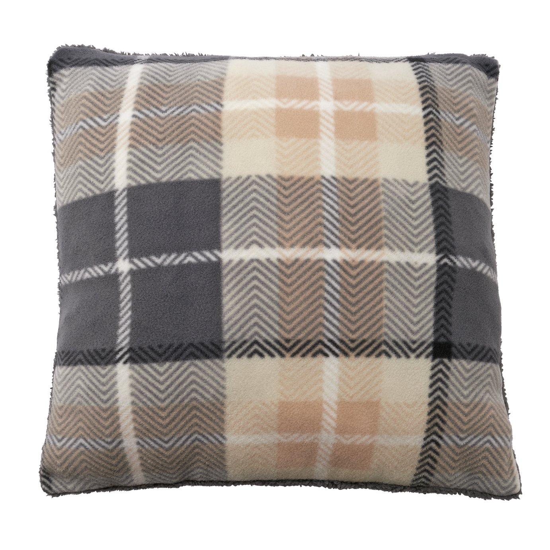 Argos Home Check Cushion - Grey