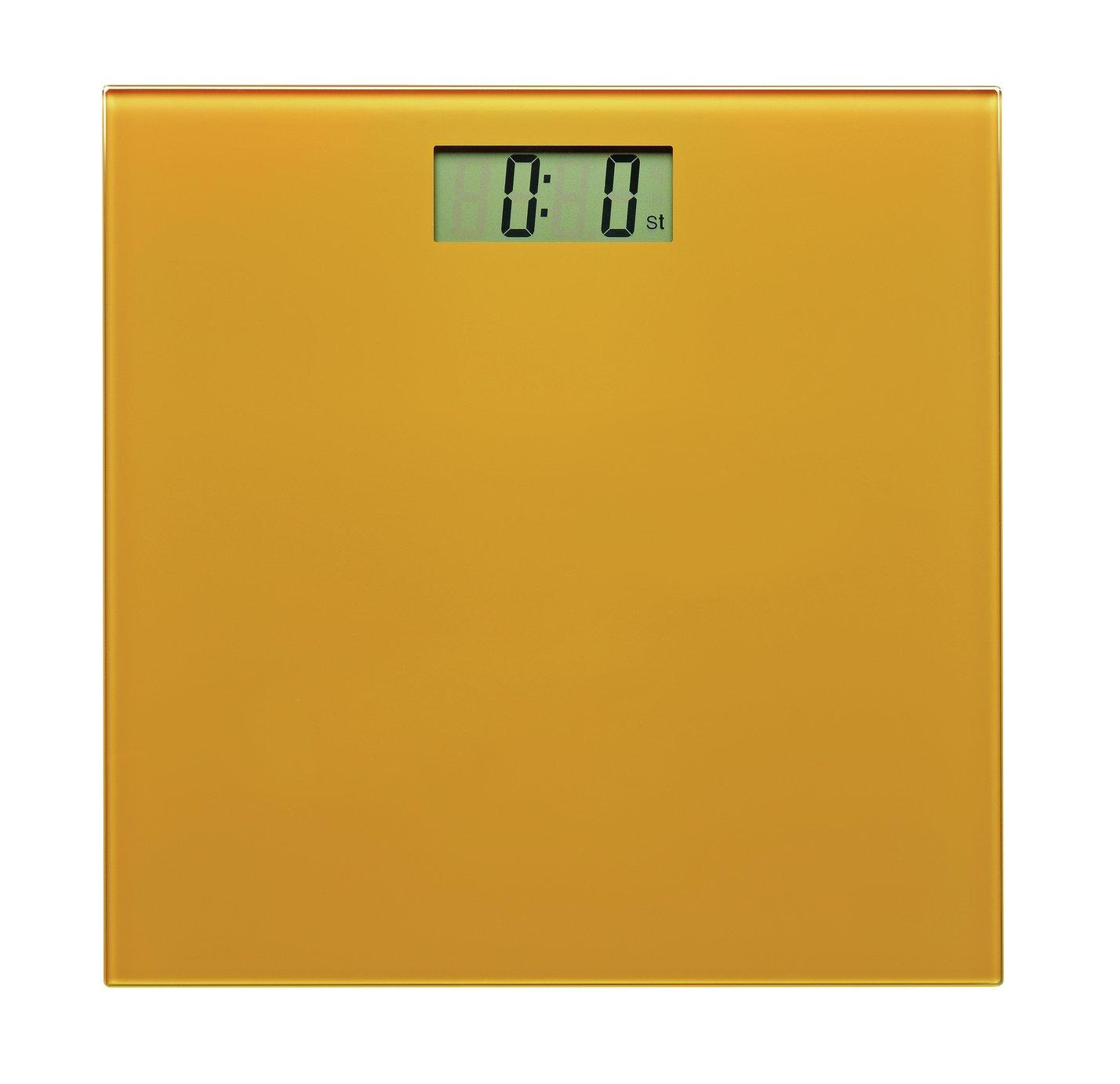 Argos Home Electronic Bathroom Scales - Mustard