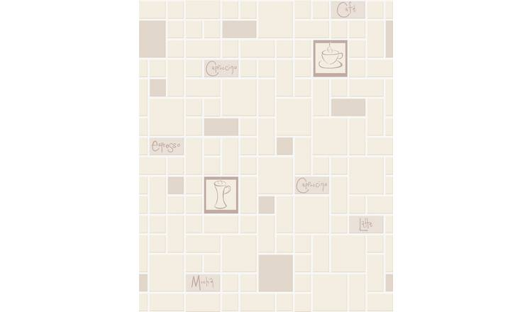 Contour Cafe Culture Beige Wallpaper