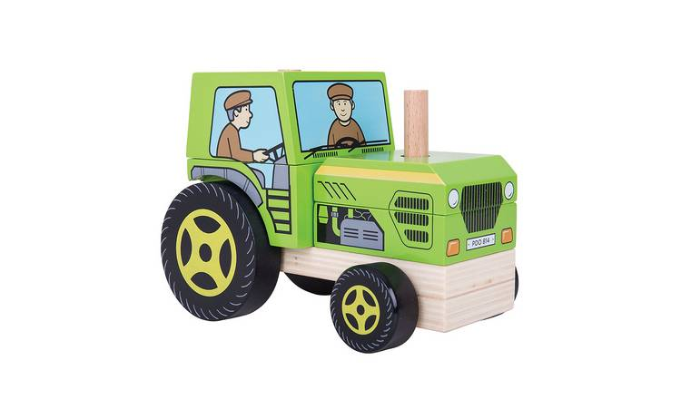 Baby Bigjigs Wooden Stacking Tractor