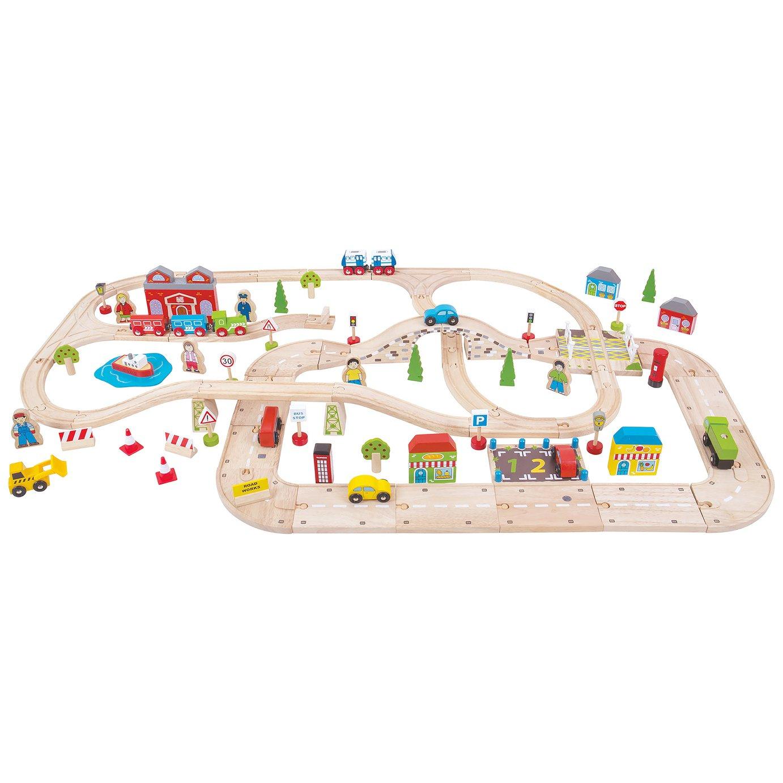 Bigjigs Rail City Road and Railway Set