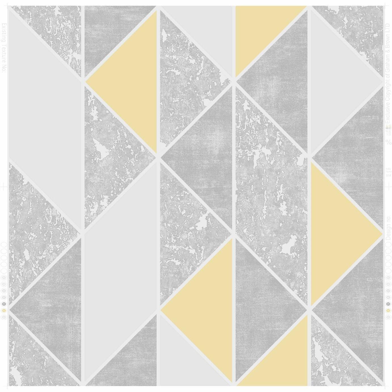 Superfresco Milan Geo Yellow Wallpaper