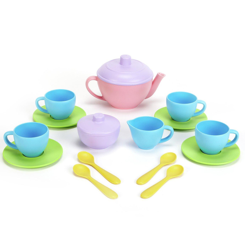 Green Toys Tea Set wit Pink Teapot