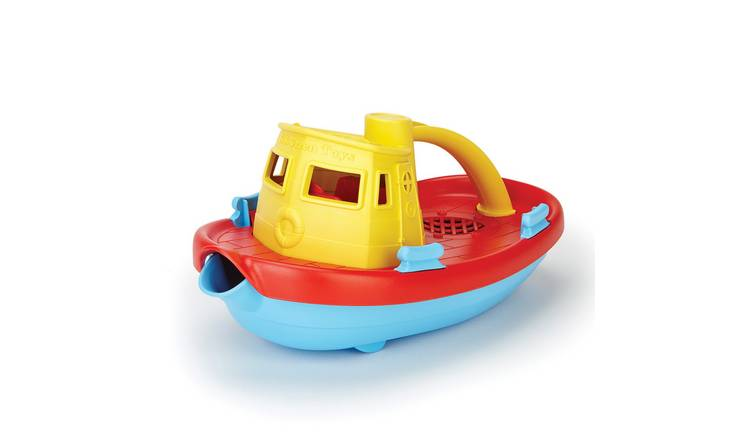 Green Toys Yellow Handle Tugboat