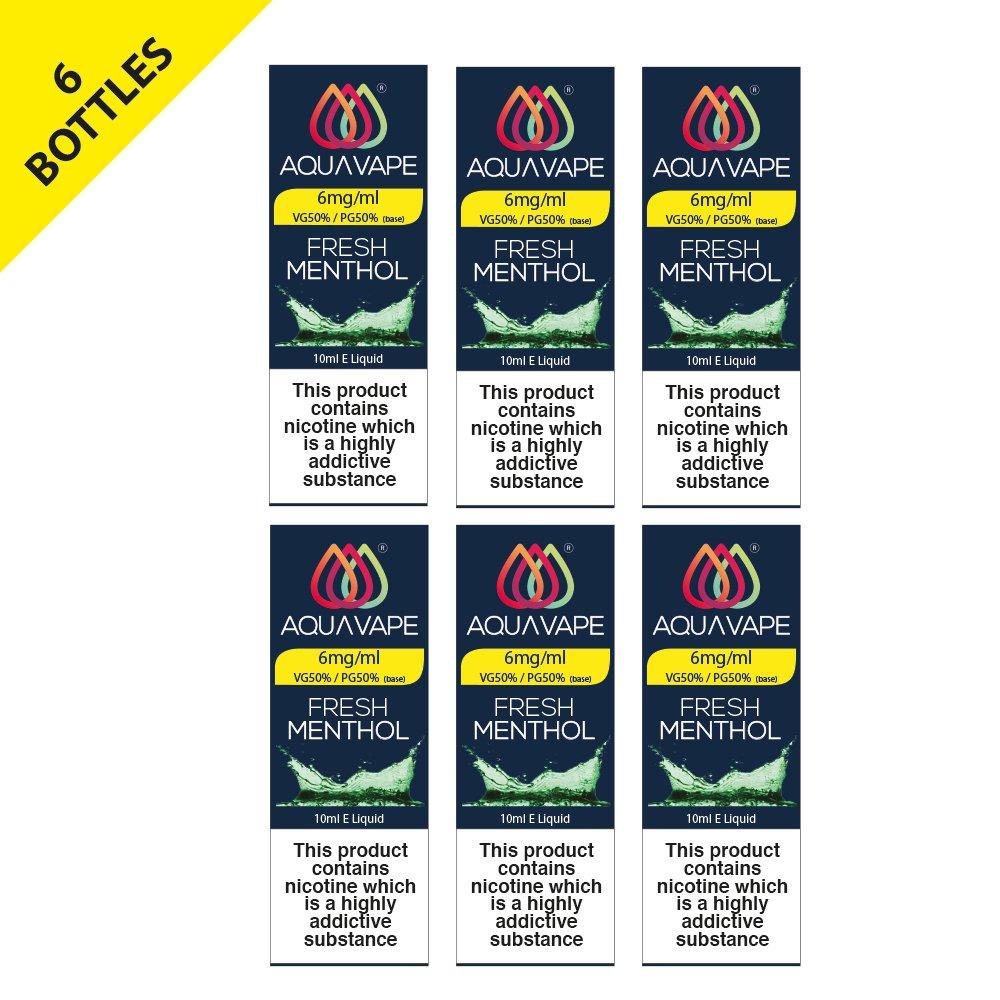 Aquavape Fresh Menthol 6mg 6 Pack