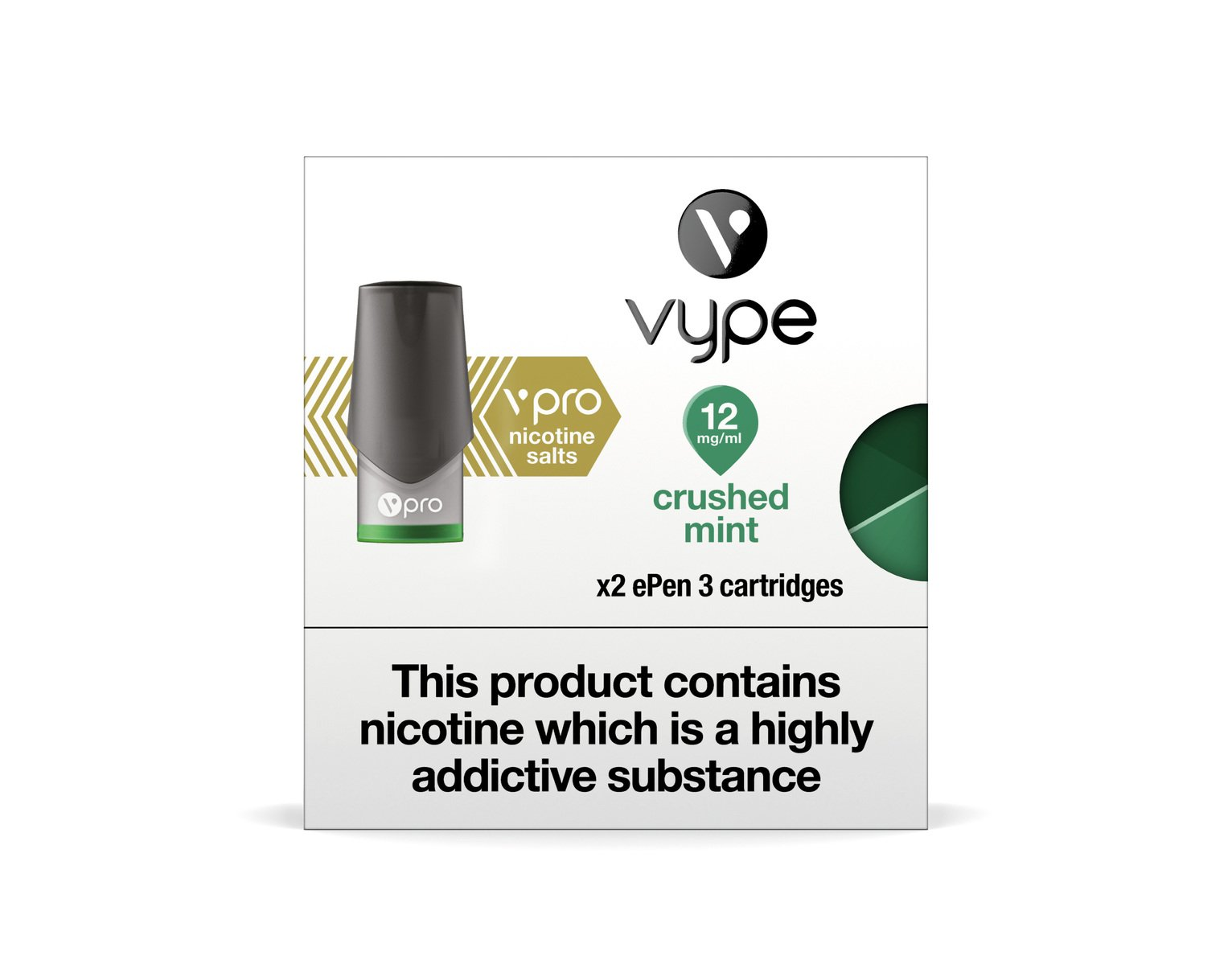 Vype ePen 3 vPro PODs Crushed Mint 12mg