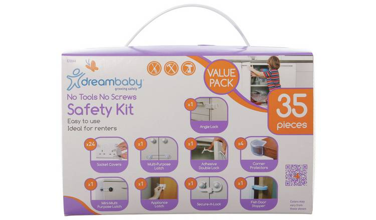 Dreambaby 'No-Tools & No-Screws' Boxed 35Pc Home Safety Kit