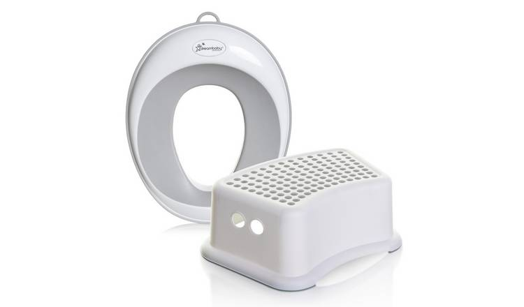Dreambaby New Contoured Potty Seat & Step Stool Bundle -Grey