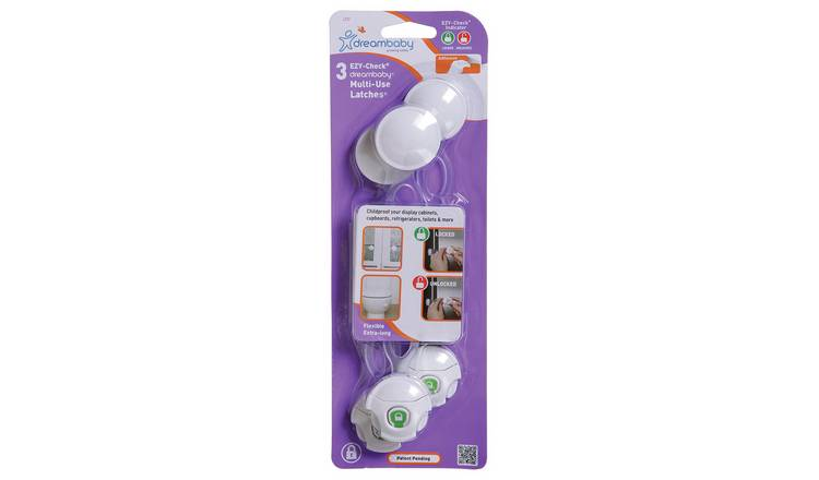 Dreambaby Ezy-Check - Multi-Use/Multi Purpose Latches 3Pk
