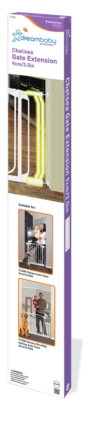 Dreambaby 9cm Chelsea Security Gate Extension - White