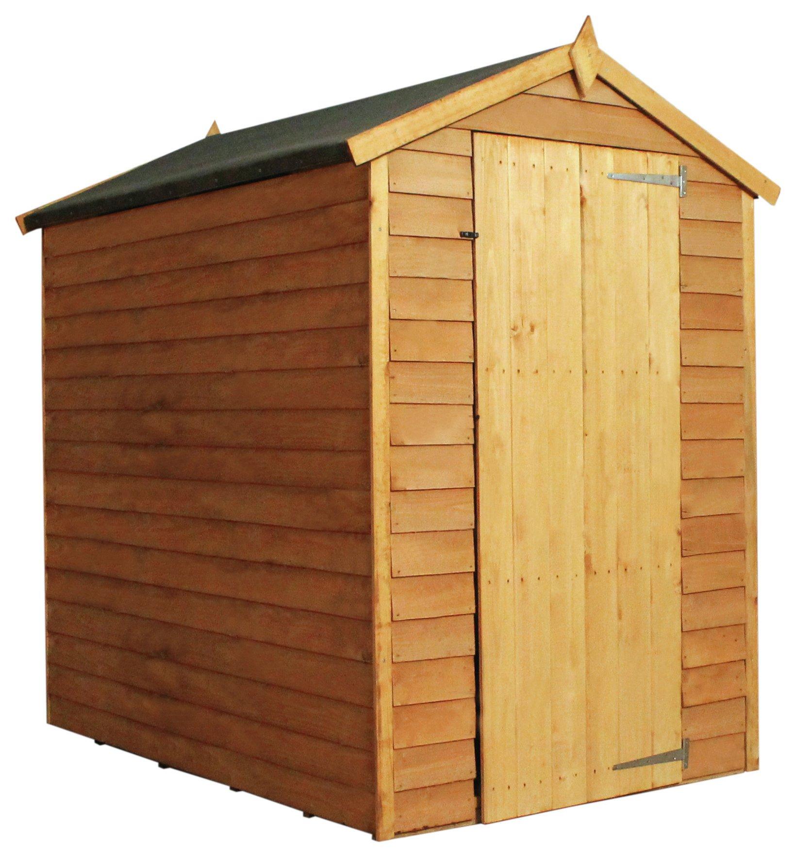 Mercia Overlap Wooden Windowless Garden Shed - 6 x 4ft