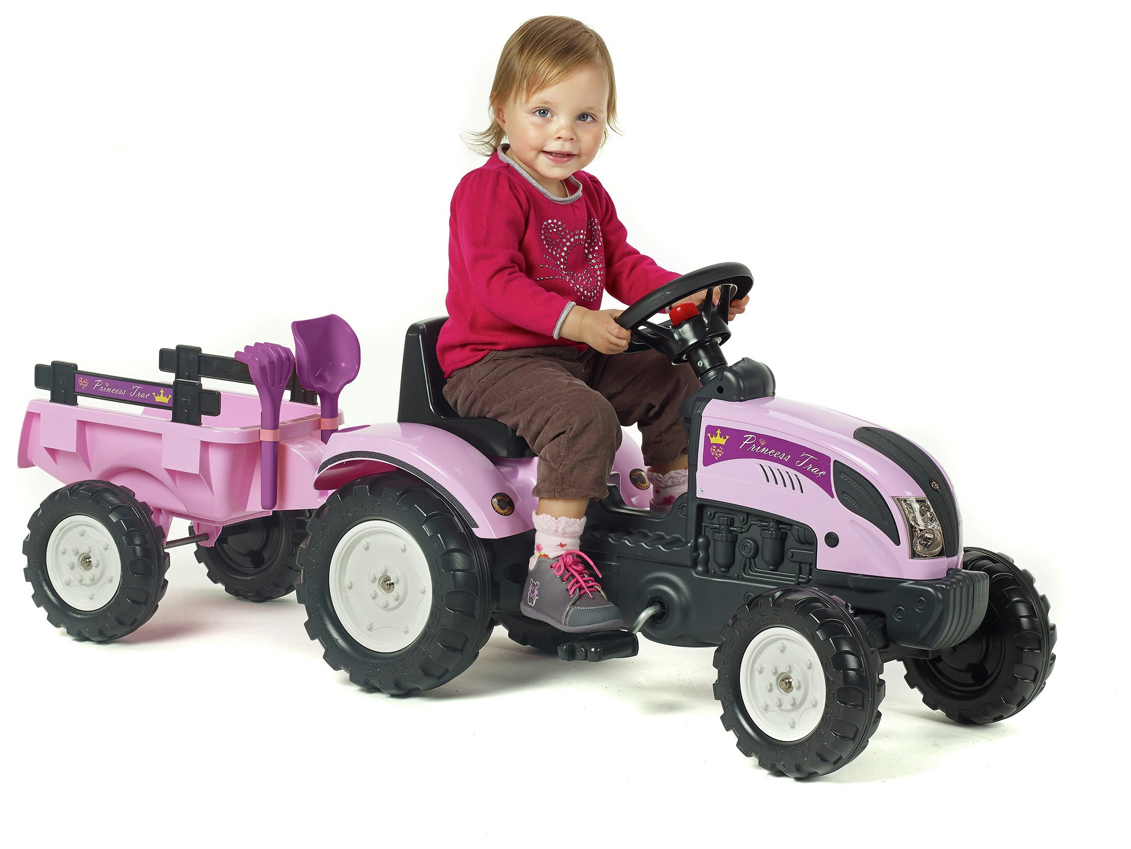 Pink Tractor and Trailer Unit
