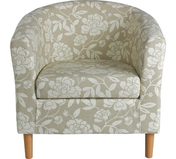 buy argos home floral fabric tub chair natural armchairs and
