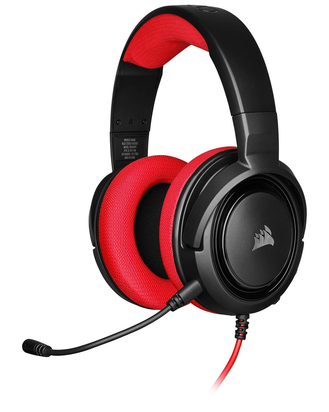 Corsair HS35 Xbox One, PS4, Switch, PC Headset - Red