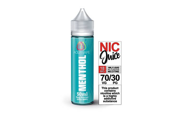 Aquavape Menthol 50ml 0mg with Shot