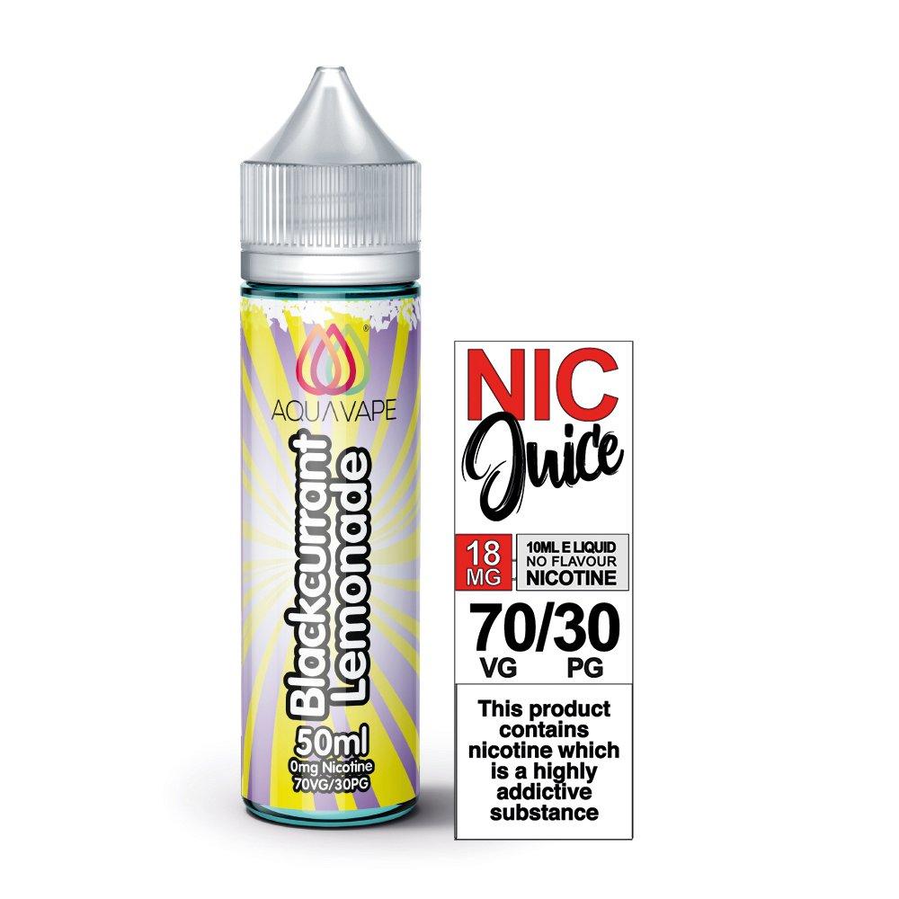 Aqua Vape Blackcurrent Lemonade 50ml 0mg with Shot