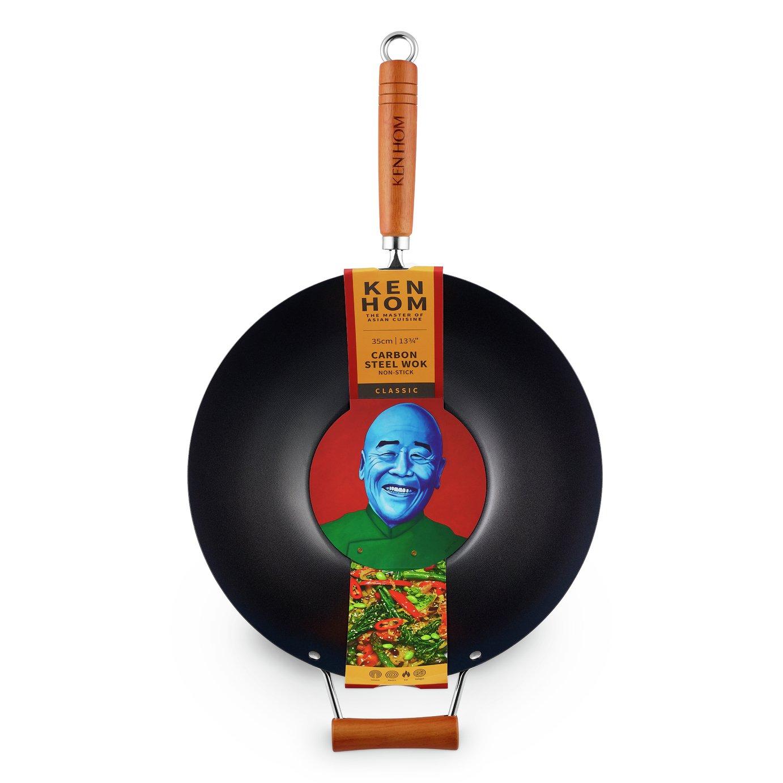 Ken Hom Classic 35cm Non Stick Carbon Steel Wok