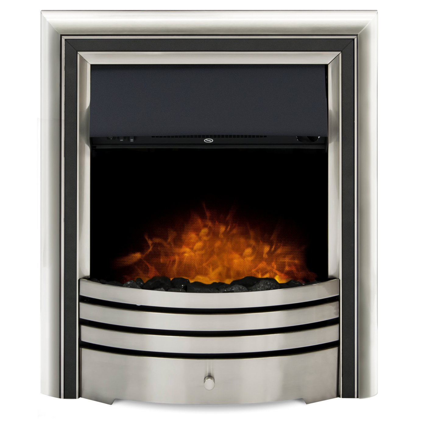 Adam Astralis 6 in 1 Electric Inset Fire - Chrome