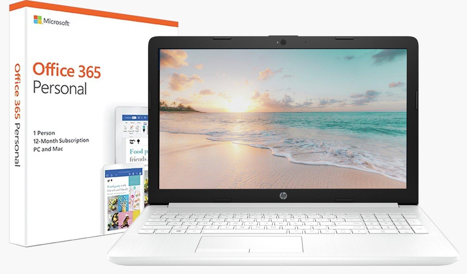 HP Stream 14 Inch A4 4GB 64GB Cloudbook - White