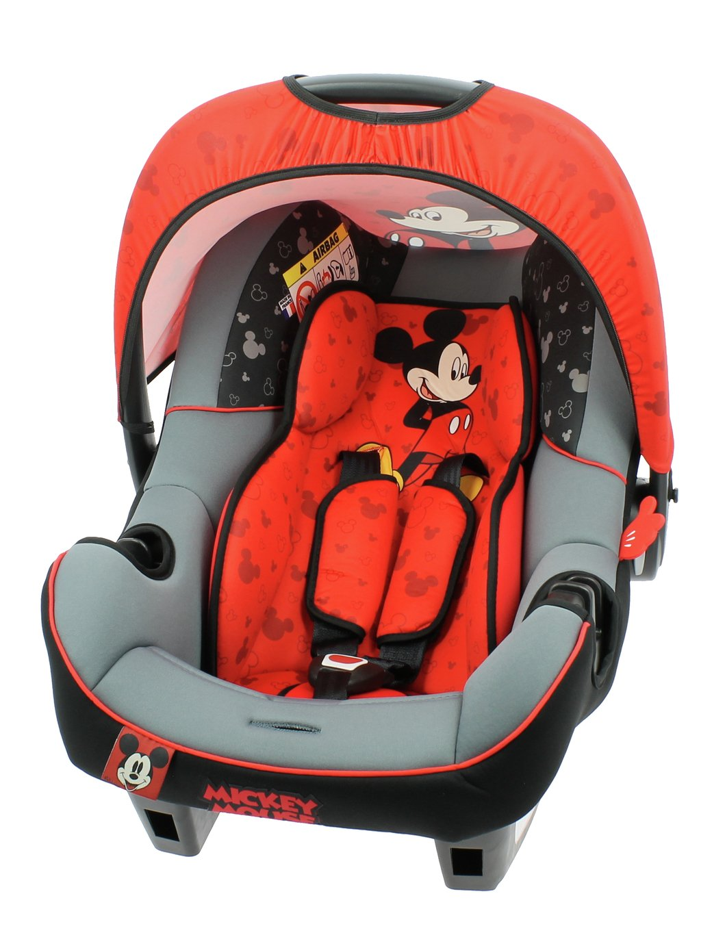 Disney Mickey Mouse Group 0+ Beone Baby Carrier -Black & Red