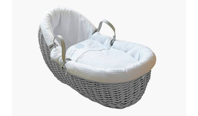Clair de Lune Over the Moon Willow Bassinet - Grey